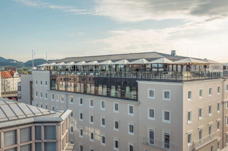Sky-Terrasse Imlauer Hotel Pitter Salzburg
