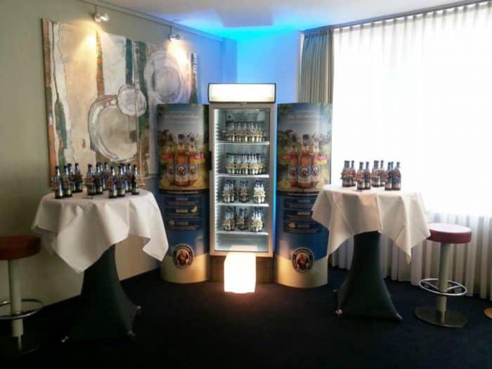 Alkoholfreies Franziskaner gratis im Tagungsbereich