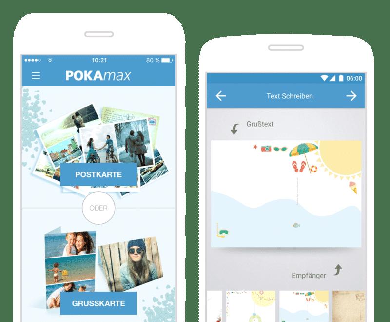 Urlaubsgrüße per Post: PokaMax Postkarten-App für den Urlaub