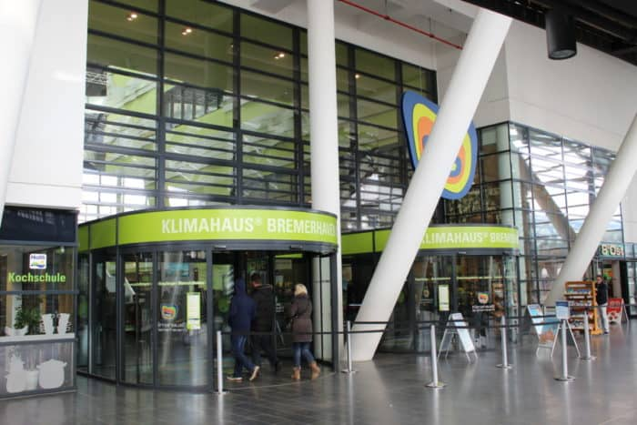 Eingang Klimahaus Bremerhaven 8° Ost