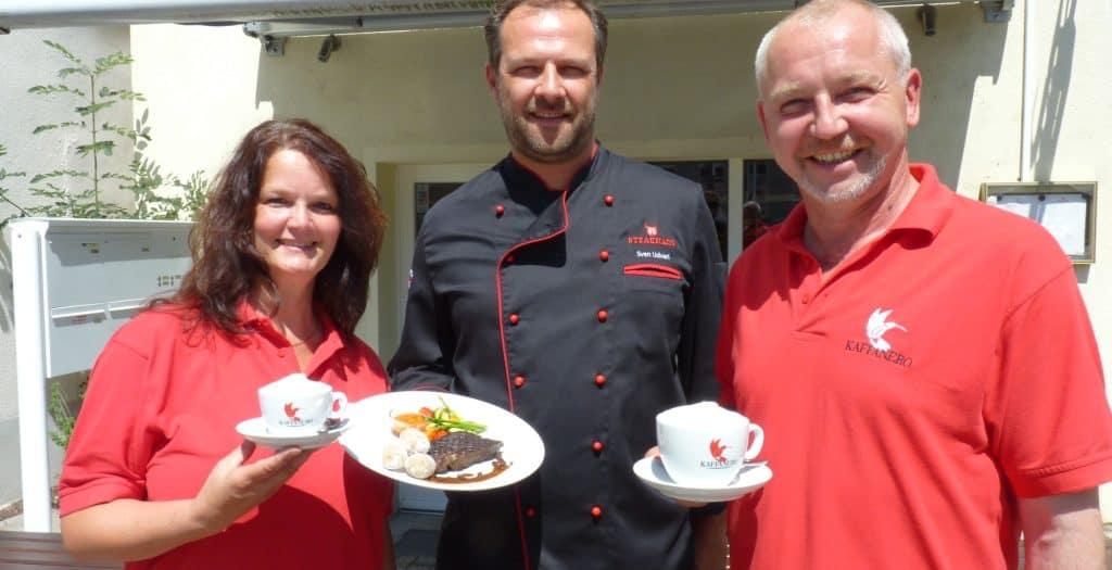 """Steak-Menü aus Dresdner Kaffee. Rösterei KAFFANERO kreiert mit """"Steakhaus Radebeul"""" nicht nur Fleisch mal anders."""