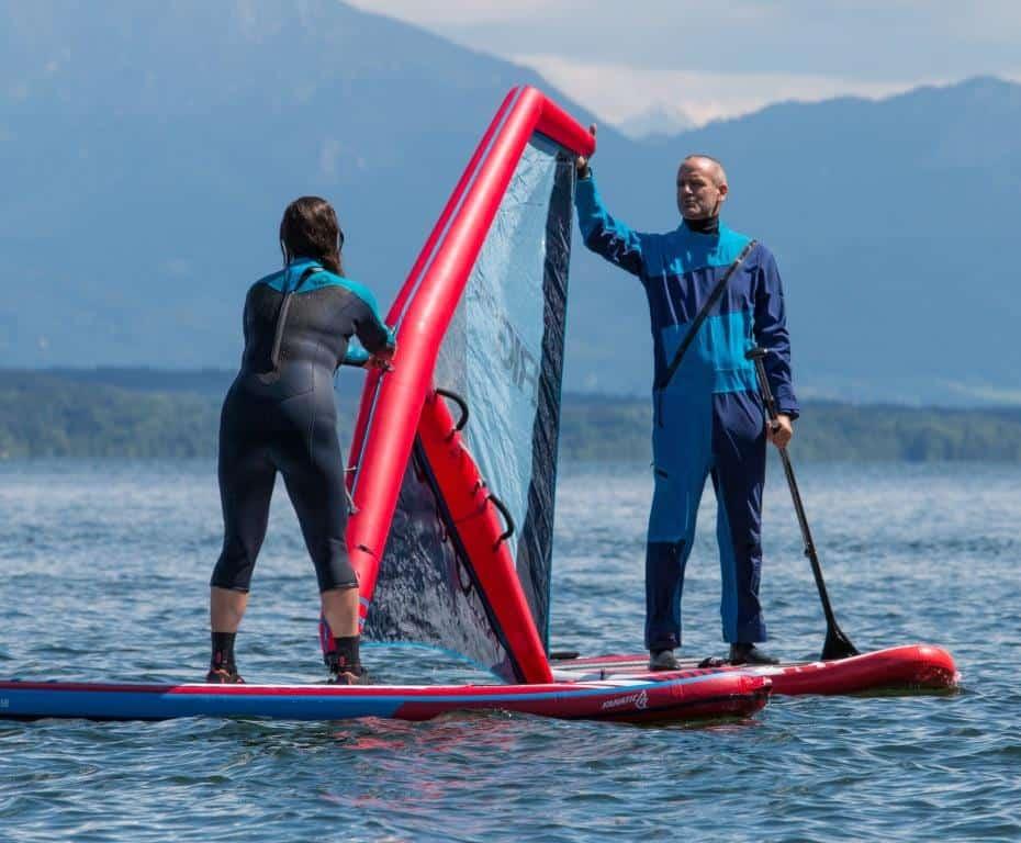 Neuer Trend Windsurfing und Lightriding