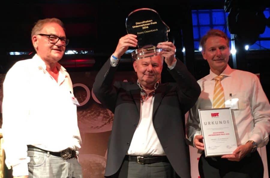 Verleihung Discothekenunternehmerpreis 2016