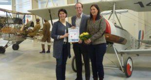 """Luftfahrtmuseum Wernigerode erhält das Label """"KinderFerienLand Harz"""""""