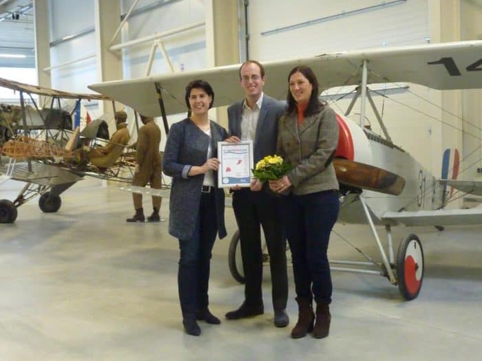 """Luftfahrtmuseum Wernigerode erhält Label """"KinderFerienLand Harz"""""""