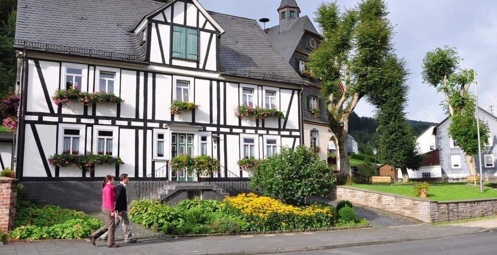 Der Historische Rundweg Achenbach führt auch durch das zu Siegen gehörende Dorf