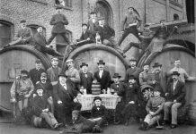 Belegschaft der Brauerei Peter Wiertz um 1889