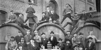 Belegschaft Aachener Brauerei Peter Wiertz um 1889
