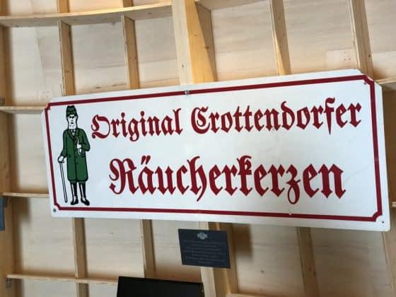 Schild Original Crottendorfer Räucherkerzen