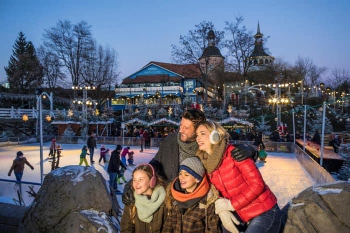 Europa-Park Tierspuren suchen im Schnee, Rodeln nach Sonnenuntergang