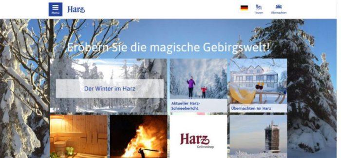Webpräsenz des Harzer Tourismusverbandes