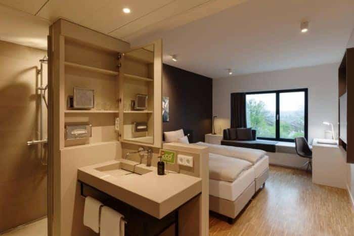 Erstmals wurde im ERNST LEITZ HOTEL die arcona Livingkitchen umgesetzt