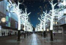 Lichtkunstwerke bringen Schlossplatz und Königstraße zum Leuchten