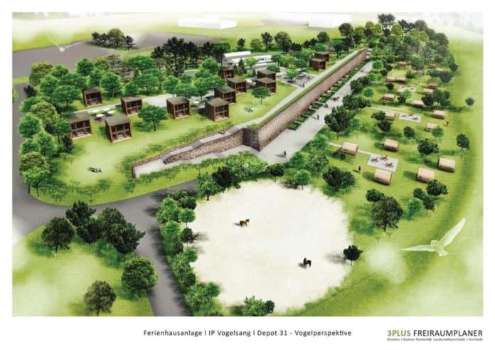 Ferienanlage auf Vogelsang geplant. Investitionen von bis zu fünf Millionen Euro vorgesehen.