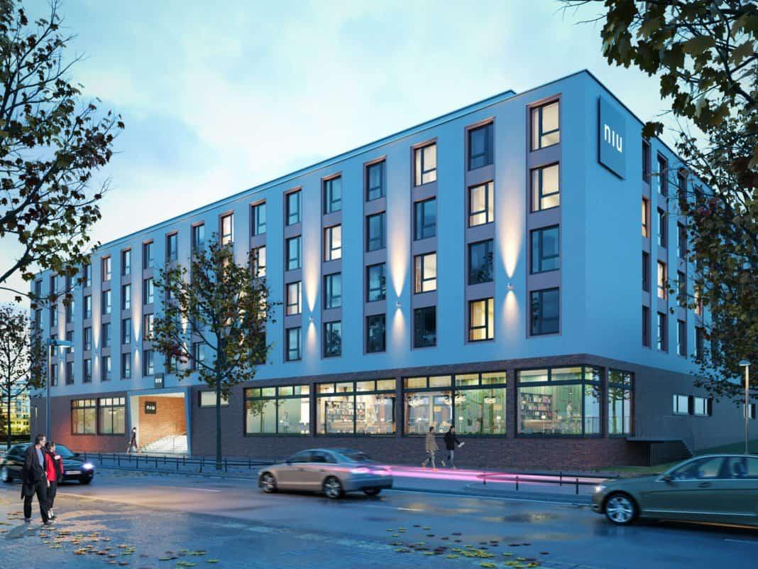Novum Hospitality legt mit Soini Asset Immobilien Grundstein für niu Hotel.