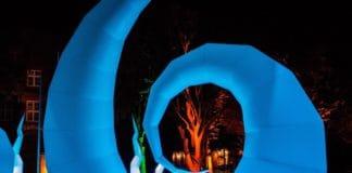 Büsumer Lichterzauber Lichtinstallation an der Nordsee