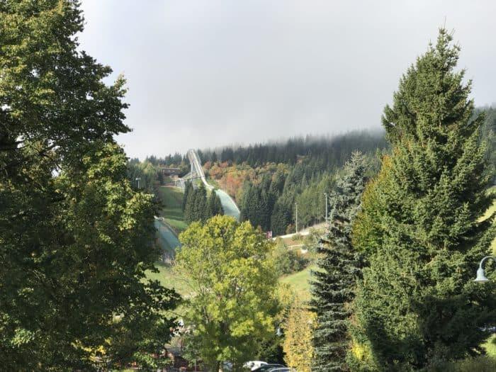 BeBlick auf Sprengschanze Fichtelberg