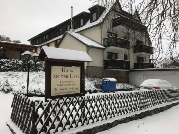 Haus an der Uffe im Winter
