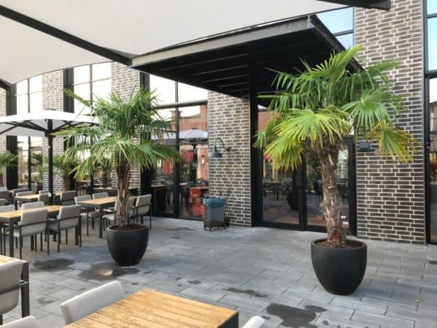 Außenbereich The Ash Restaurant im Ruhr Park