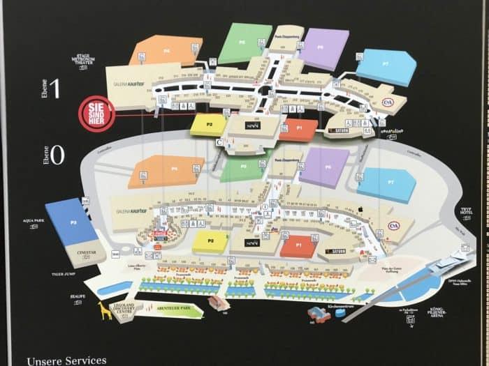 Centerplan Einkaufszentrum Centro Oberhausen
