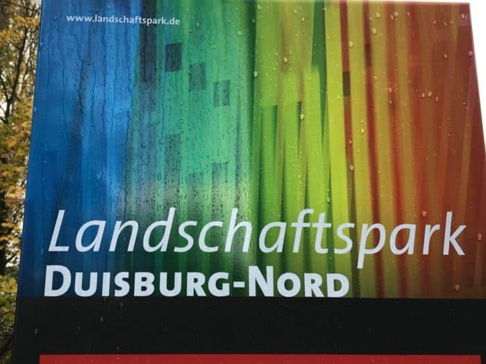 Hinweistafel Landschaftspark Duisburg-Nord
