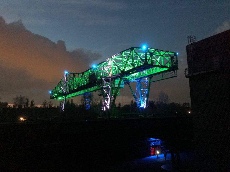 Landschaftspark Duisburg bei Nacht