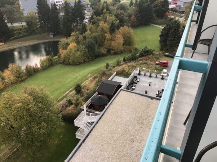 Blick vom Balkon Best Western Ahorn Hotel