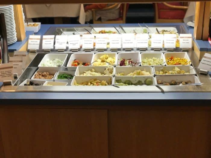 Großzügiges Salatbuffet