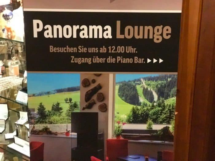 Schild Panorama Lounge Best Western Ahorn Hotel