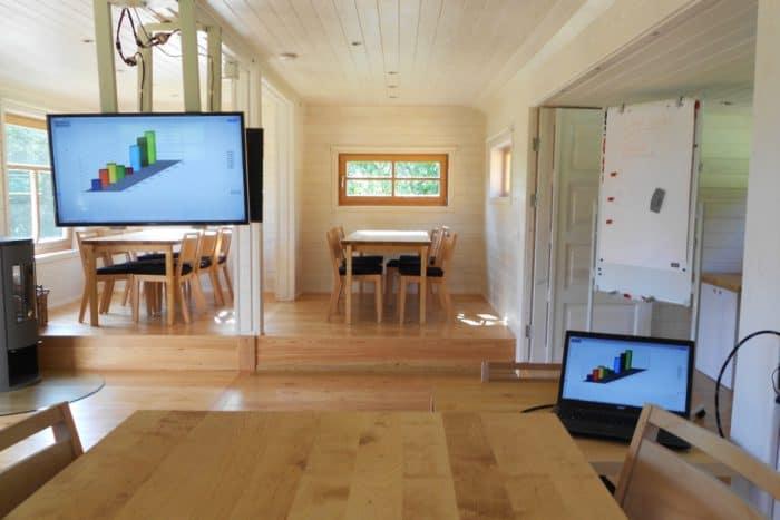 Baumhaushotel Solling, Innenansicht Konferenzwagen
