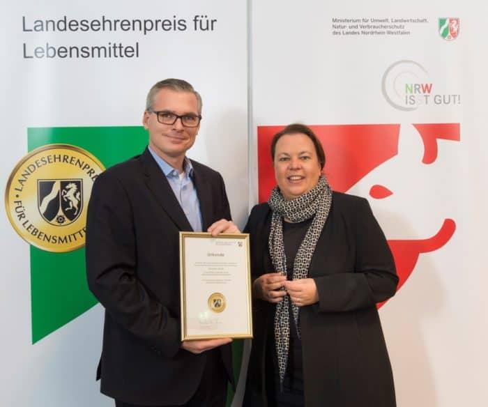 Dermaris erhält NRW Landesehrenpreis für Lebensmittel 2018