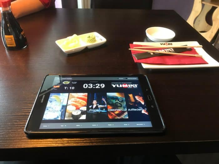 YUMINI Siegen: Sushi bestellen per Tablet
