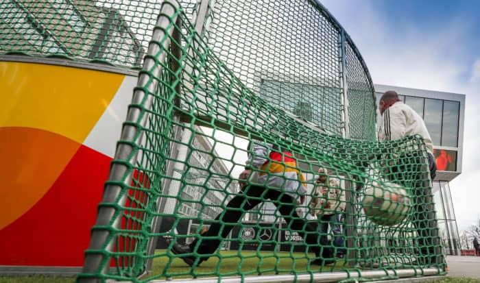 Spielfeld im Deutschen Fußballmuseum in Dortmund