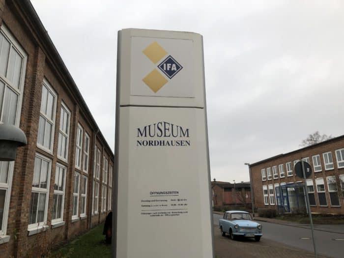 Ifa-Museum Nordhausen, Museumsschild
