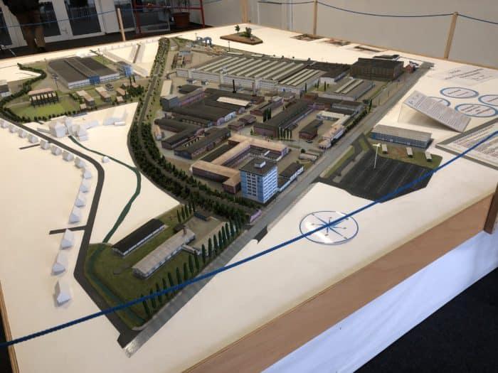 Modell Industriestandort ehemaliges Ifa-Gelände
