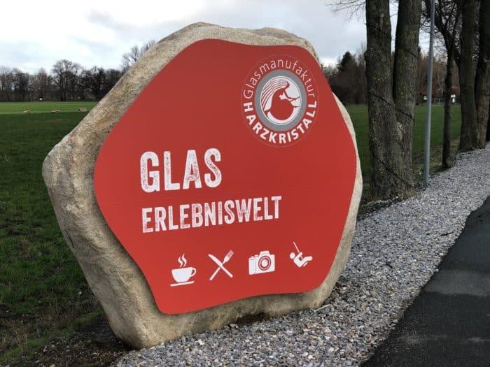 Eingang zur Erlebniswelt Harzkristall Derenburg