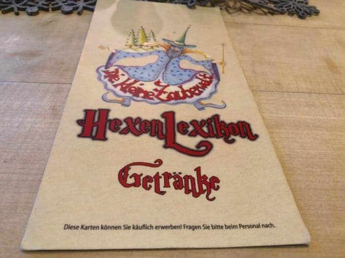Hexisch gut: Getränkekarte Restaurant Braunlage