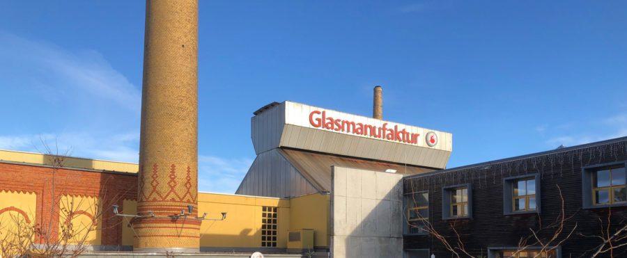 Blick auf Glasmunufaktur