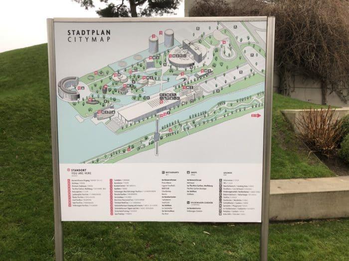Plan Autostadt Wolfsburg