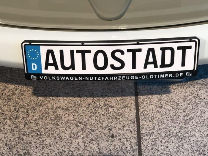 Schild Autostadt Wolfsburg