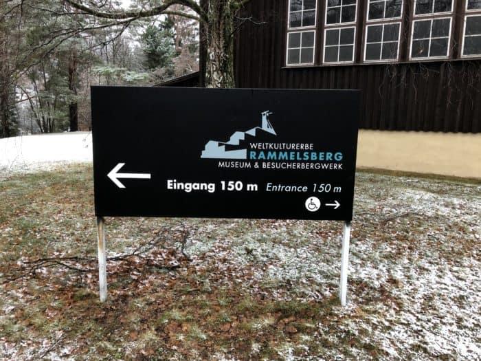 Schild Weltkulturerbe Rammelsberg