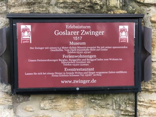 Zwinger Goslar Erlebnisturm