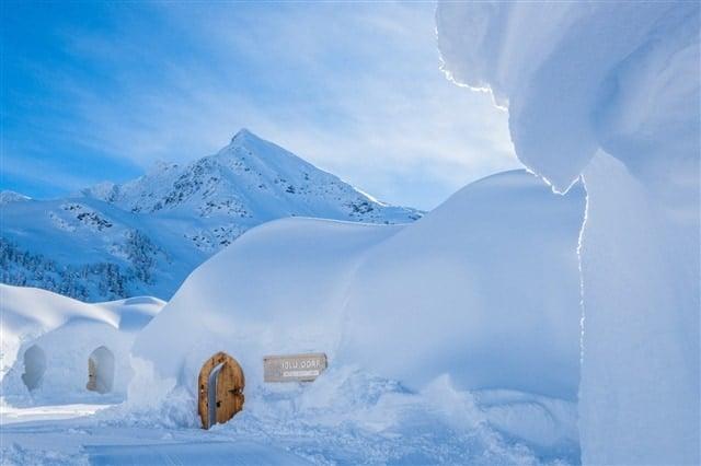 verschneiten Iglu-Dörfer