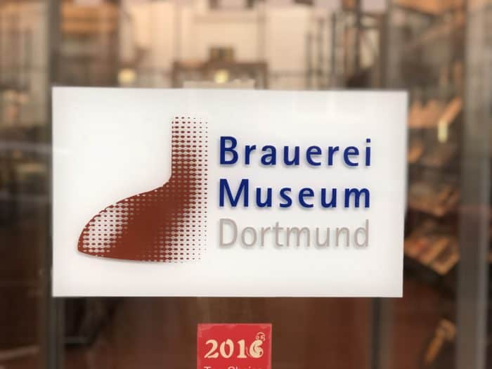 Brauereimuseum Dortmund, Eingangsschild