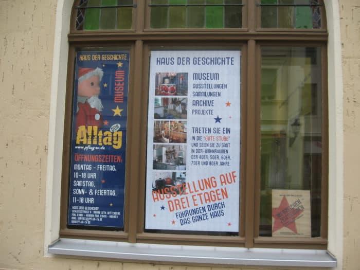 Schaufenster Haus der Geschichte Wittenberg