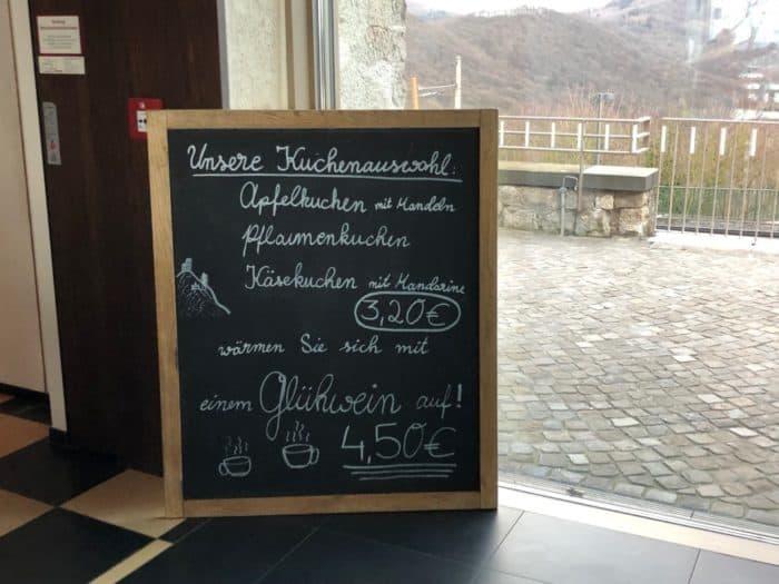 Tageskarte Restaurant Drachenfels