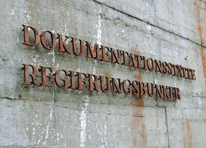 Splitterschutzwand Regierungsbunker im Ahrtal