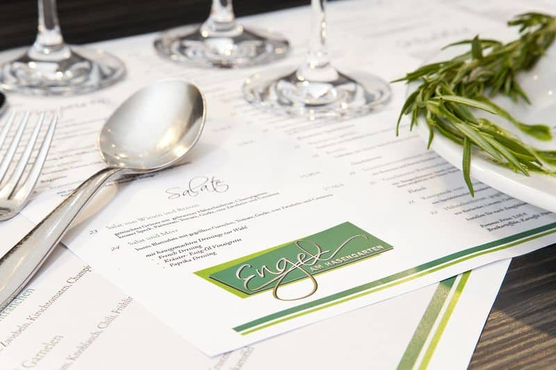 Speisekarte Restaurant Engel am Hasengarten in Siegen