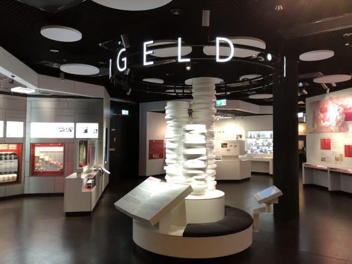 Ausstellungsraum Geldmuseum in Frankfurt