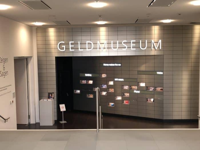 Empfangsbereich Geldmuseum
